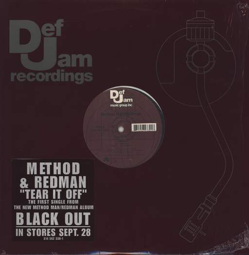 "Method Man/Redman: Tear It Off, 12"" Maxi Single (Vinyl)"