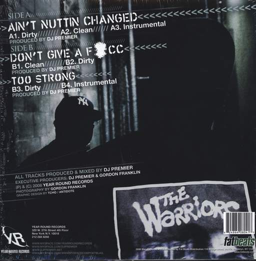 "Blaq Poet: Ain't Nuttin Changed / Don't Give A F*cc / Too Strong, 12"" Maxi Single (Vinyl)"