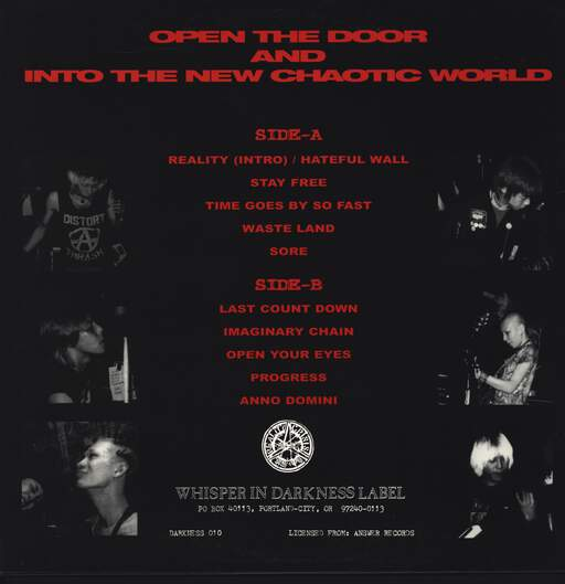 Reality Crisis: Open The Door And Into The New Chaotic World, Mini LP (Vinyl)