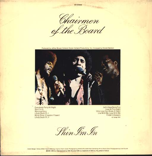 Chairmen Of The Board: Skin I'm In, LP (Vinyl)