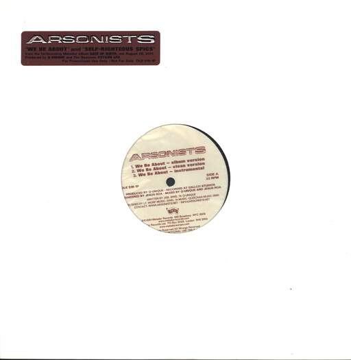 "The Arsonists: We Be About / Self-Righteous Spics, 12"" Maxi Single (Vinyl)"