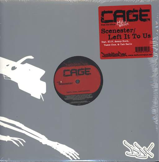 "Cage: Scenester / Left It To Us, 12"" Maxi Single (Vinyl)"