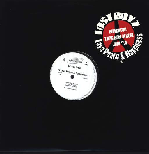 "Lost Boyz: Love, Peace & Nappiness / Beasts From The East, 12"" Maxi Single (Vinyl)"