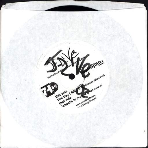 "J-Live: The Day I Fell Off / School's In, 7"" Single (Vinyl)"