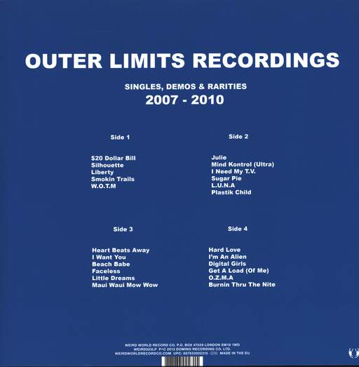 Outer Limits Recordings: Singles, Demos & Rarities 2007-2010, LP (Vinyl)