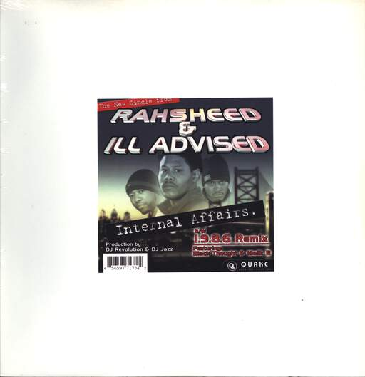 "Rahsheed: Internal Affairs / 1.9.8.6. (Remix), 12"" Maxi Single (Vinyl)"