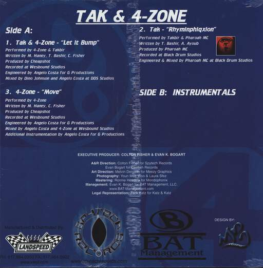 "Tak: Let It Bump, 12"" Maxi Single (Vinyl)"