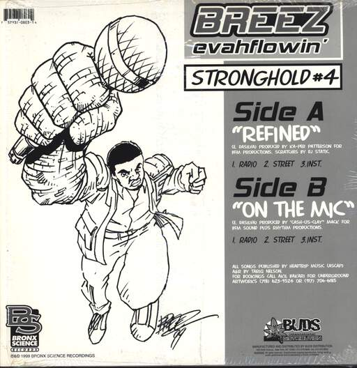 "Breez Evahflowin: Refined / On The Mic, 12"" Maxi Single (Vinyl)"