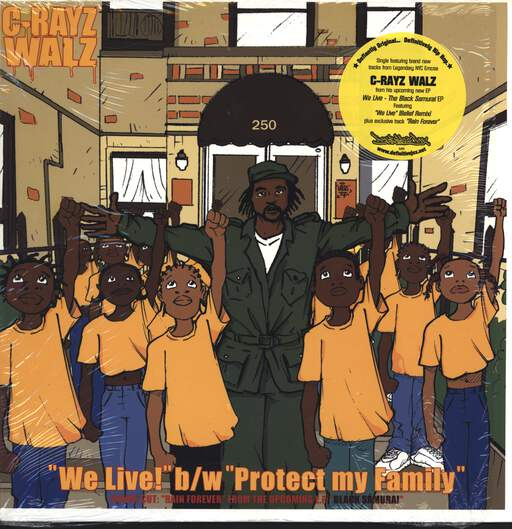 "C-Rayz Walz: We Live! / Protect My Family / Rain Forever, 12"" Maxi Single (Vinyl)"