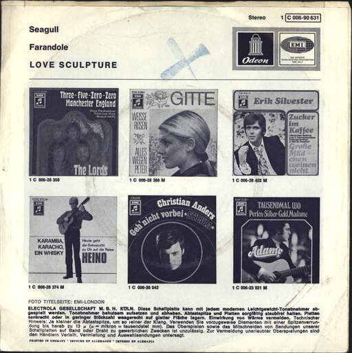 "Love Sculpture: Seagull, 7"" Single (Vinyl)"