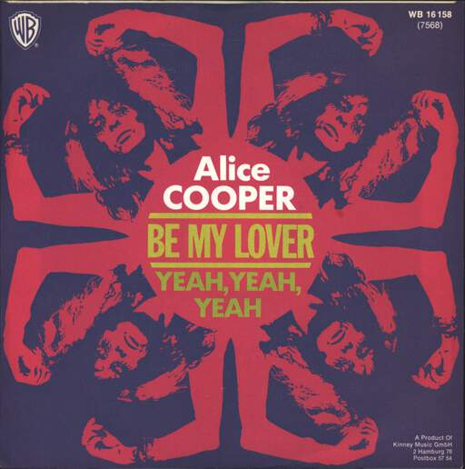 "Alice Cooper: Be My Lover, 7"" Single (Vinyl)"