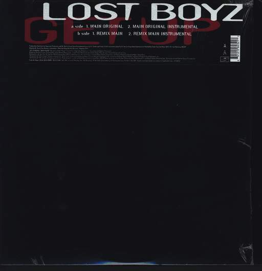 "Lost Boyz: Get Up, 12"" Maxi Single (Vinyl)"