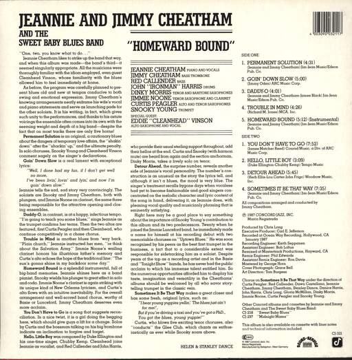 Jeannie & Jimmy Cheatham: Homeward Bound, LP (Vinyl)
