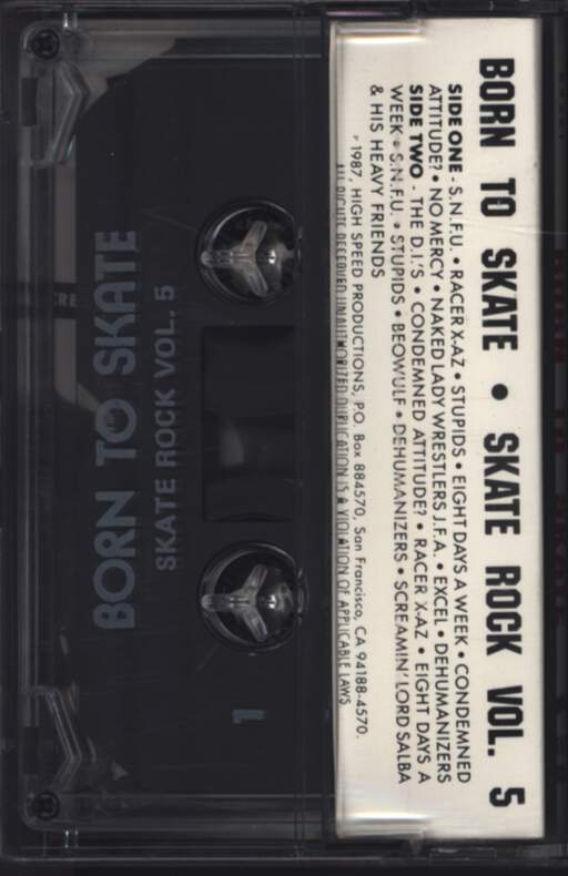 Various: Born To Skate, Compact Cassette