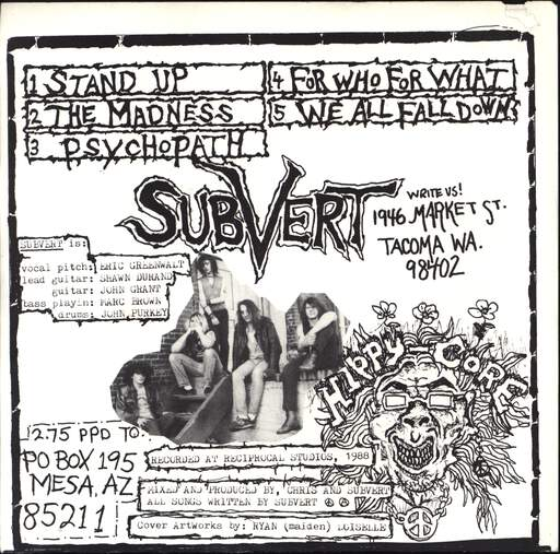 "Subvert: The Madness Must End, 7"" Single (Vinyl)"