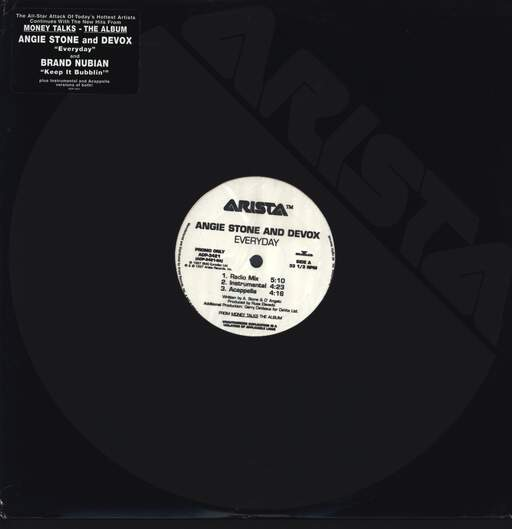 "Angie Stone: Everyday / Keep It Bubblin', 12"" Maxi Single (Vinyl)"