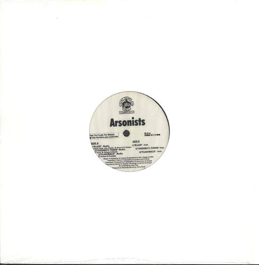 "The Arsonists: Blaze / Geembo's Theme / Flashback, 12"" Maxi Single (Vinyl)"