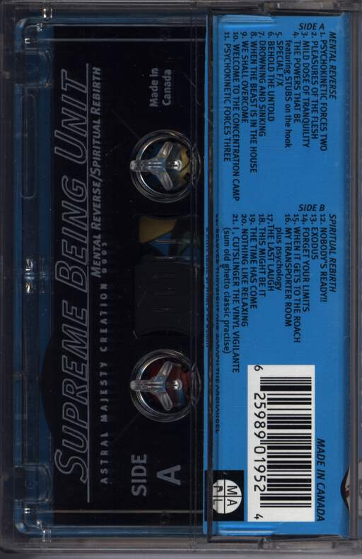 Supreme Being Unit: Mental Reverse/Spiritual Rebirth, Compact Cassette