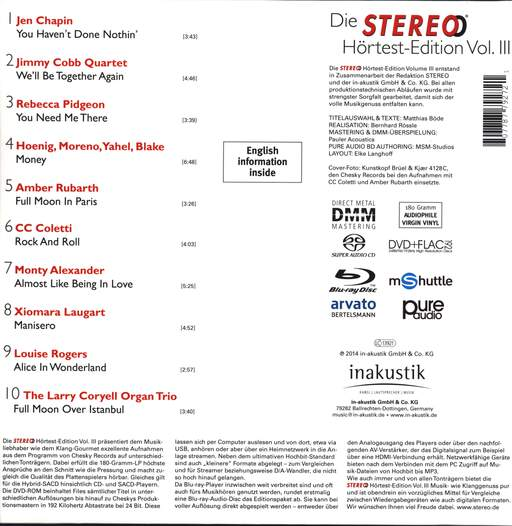 "Various: Die Stereo Hörtest Edition Vol. III (180g), 12"" Maxi Single (Vinyl)"