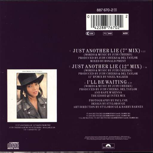 Judy Cheeks: Just Another Lie, Mini CD