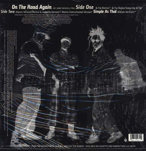 "Jungle Brothers: On The Road Again / Simple As That, 12"" Maxi Single (Vinyl)"