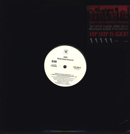 "Nas: What Goes Around (Poison), 12"" Maxi Single (Vinyl)"