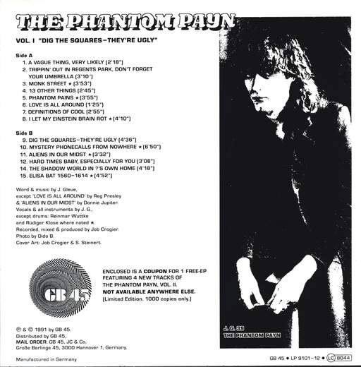 "The Phantom Payn: Vol. I ""Dig The Squares - They're Ugly"", LP (Vinyl)"
