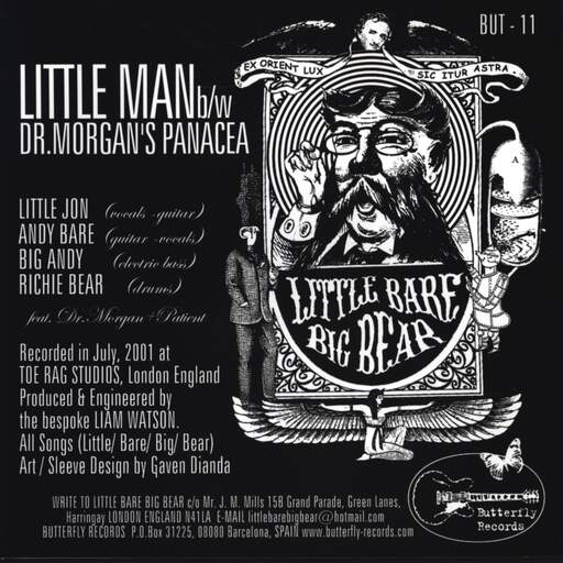"Little Bare Big Bear: Little Man/ Dr. Morgan's Panacea, 7"" Single (Vinyl)"