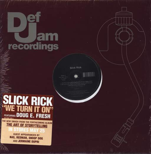 "Slick Rick: We Turn It On, 12"" Maxi Single (Vinyl)"