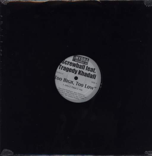"Screwball: Too High, Too Low / Real Niggaz, 12"" Maxi Single (Vinyl)"