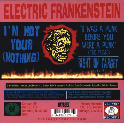 "Electric Frankenstein: I'm Not Your (Nothing), 7"" Single (Vinyl)"