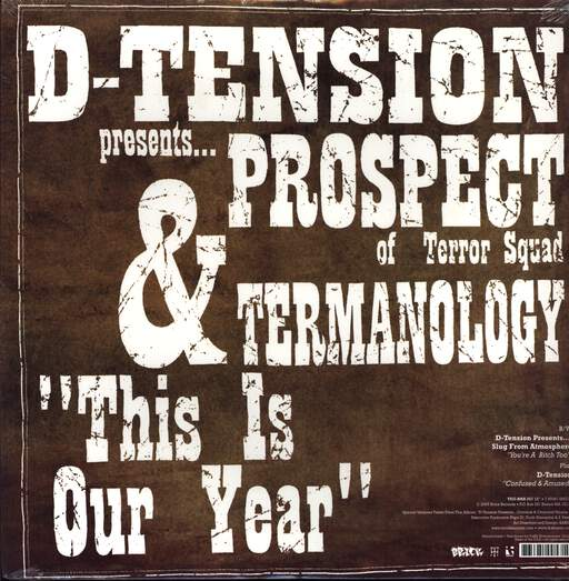 "D-Tension: You're A Bitch Too / This Is Our Year, 12"" Maxi Single (Vinyl)"