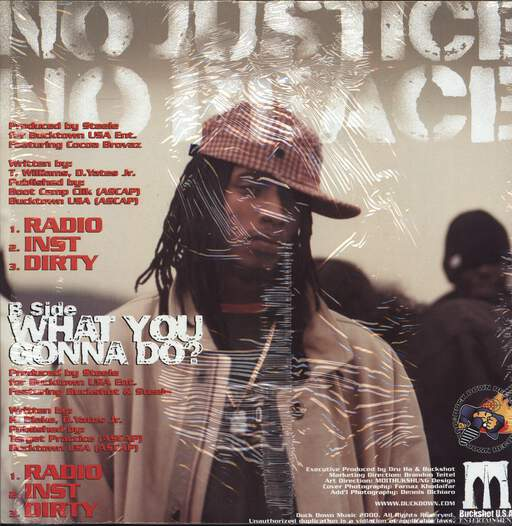 "Bucktown U.S.A.: No Justice No Peace, 12"" Maxi Single (Vinyl)"