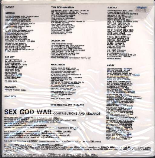 The A-10: Sex God War - Contributions And Rewards, LP (Vinyl)