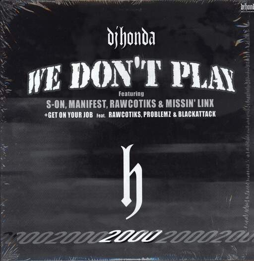"DJ Honda: We Don't Play / Get On Your Job, 12"" Maxi Single (Vinyl)"