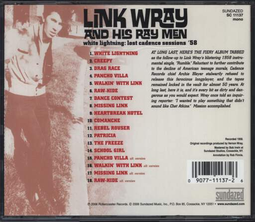 Link Wray: White Lightning: Lost Cadence Sessions '58, CD