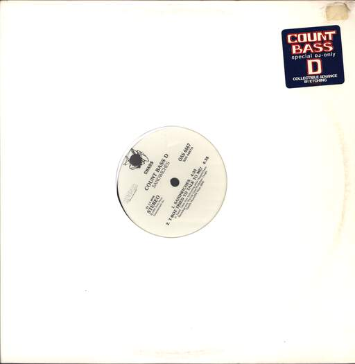 "Count Bass D: Sandwiches / T-Boz Tried To Talk To Me!, 12"" Maxi Single (Vinyl)"