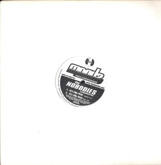 "The Nobodies: It's Hip Hop / What You Hear, 12"" Maxi Single (Vinyl)"