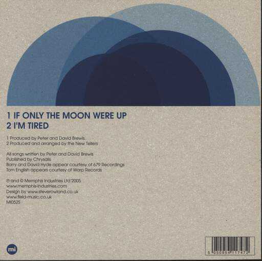 "Field Music: If Only The Moon Were Up, 7"" Single (Vinyl)"