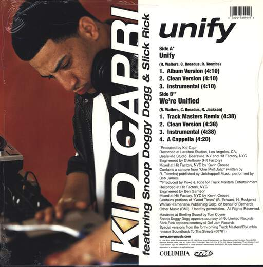 "Kid Capri: Unify, 12"" Maxi Single (Vinyl)"