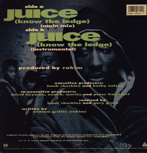 "Eric B & Rakim: Juice (Know The Ledge), 12"" Maxi Single (Vinyl)"
