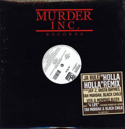"Ja Rule: 4 Life / Holla Holla (Remix), 12"" Maxi Single (Vinyl)"