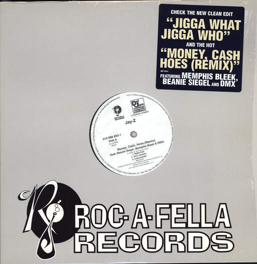 "Jay-Z: Money, Cash, Hoes (Remix) / Jigga What?, 12"" Maxi Single (Vinyl)"