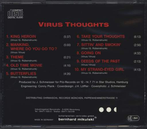 Virus: Thoughts, CD