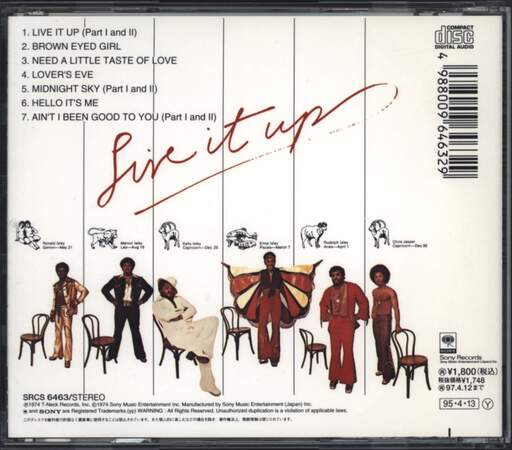 The Isley Brothers: Live It Up, CD