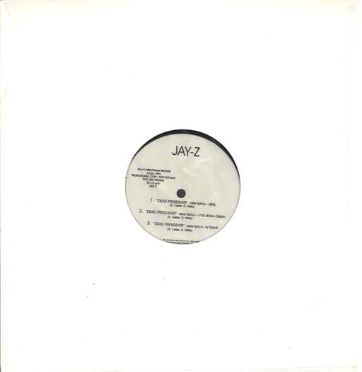 "Jay-Z: Aint No N!gg@ / Dead Presidents, 12"" Maxi Single (Vinyl)"