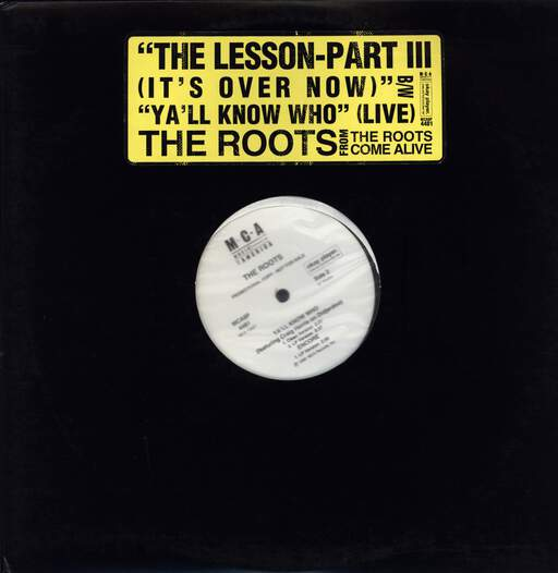 "The Roots: The Lesson-Part III / Ya'll Know Whoo, 12"" Maxi Single (Vinyl)"