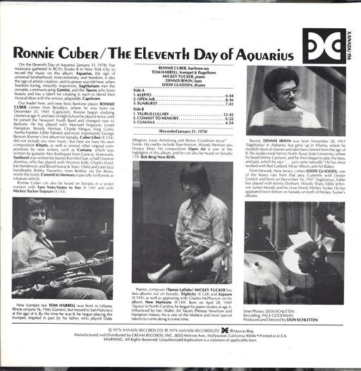 Ronnie Cuber: The Eleventh Day Of Aquarius, LP (Vinyl)
