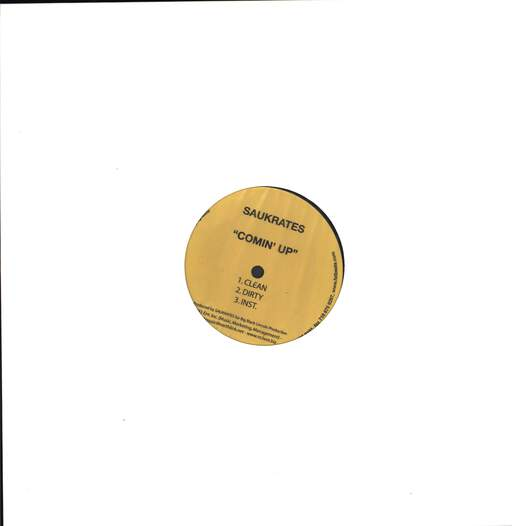 "Saukrates: Sumthin For Da Streetz / Comin' Up, 12"" Maxi Single (Vinyl)"