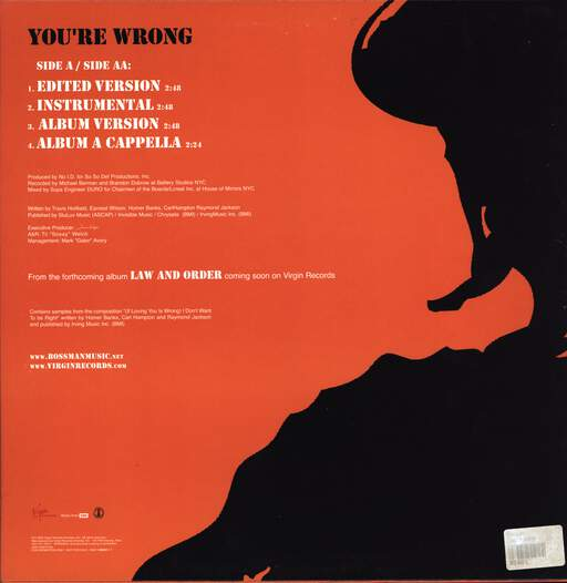 "Bossman: You're Wrong, 12"" Maxi Single (Vinyl)"